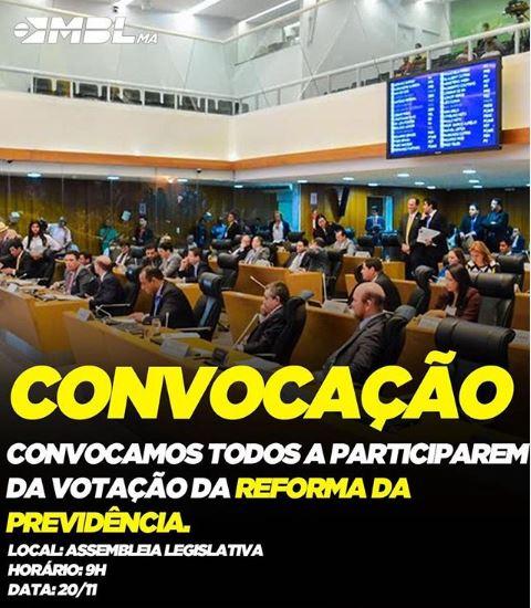 Paixão cega: Para o MBL, Reforma da previdência aprovada por Bolsonaro não serve no Maranhão