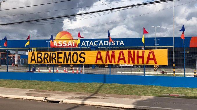 Concorrente do Mateus, Rede Assaí, inaugura supermercado no meio do 'lockdown'