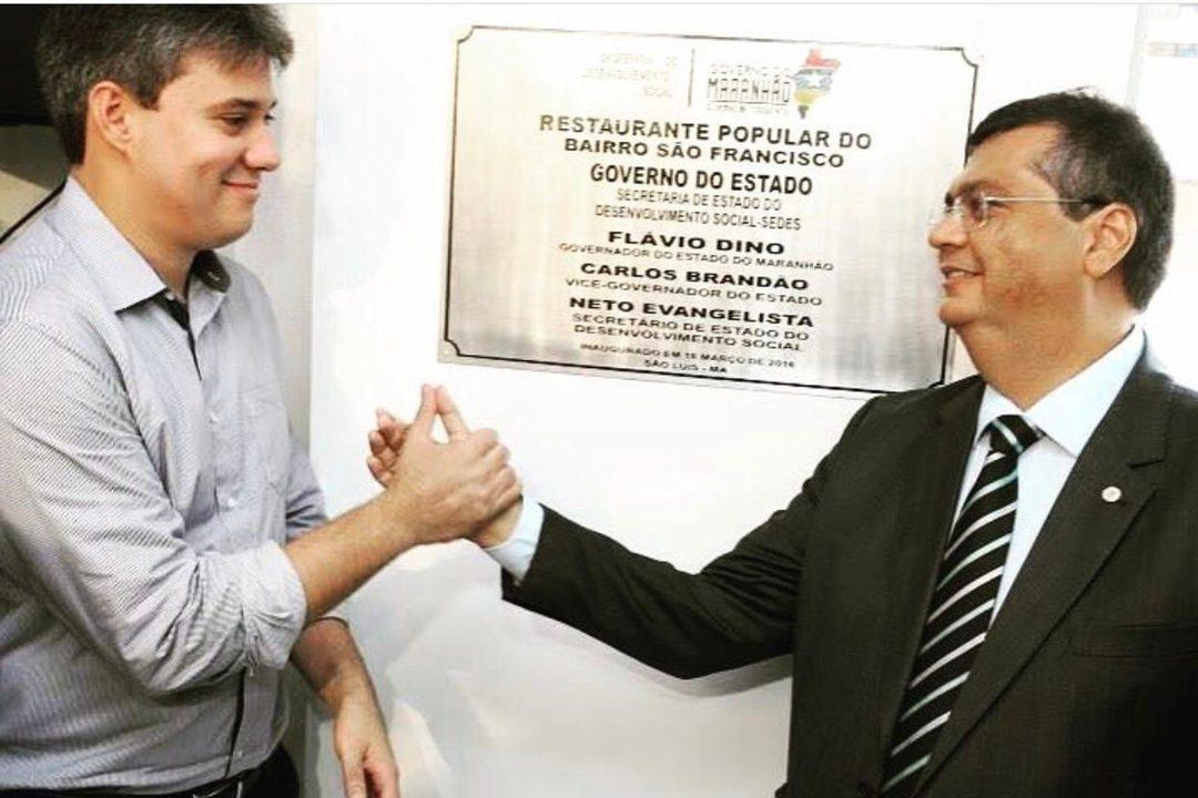 Depois de Duarte Jr, Neto Evangelista também tenta colar em Flávio Dino