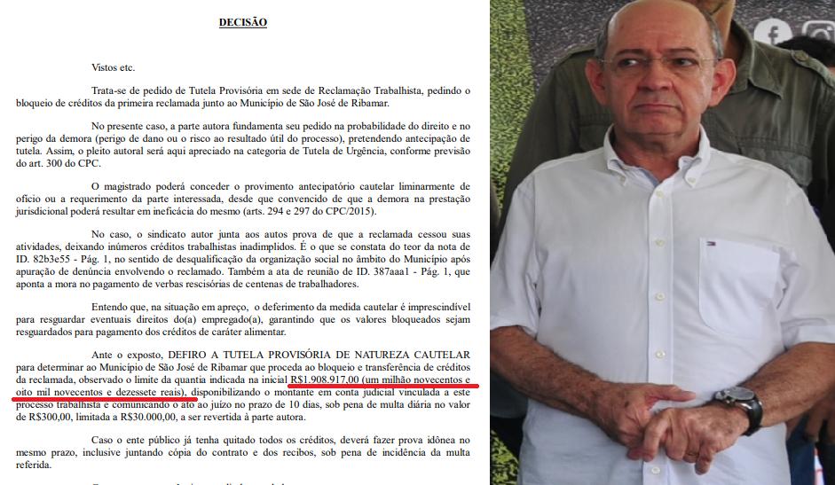 São José de Ribamar: Profissionais da Saúde consegue na justiça, bloqueio de quase R$ 2 mi nas contas da Prefeitura