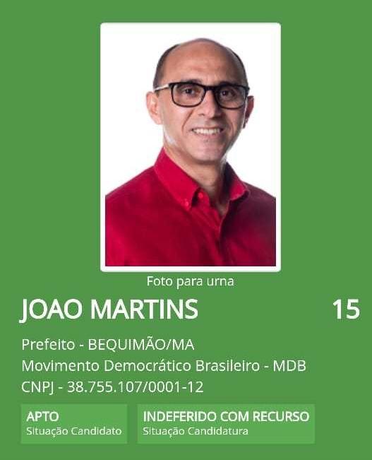Candidatura de João Martins é indeferida em Bequimão a pedido do MP