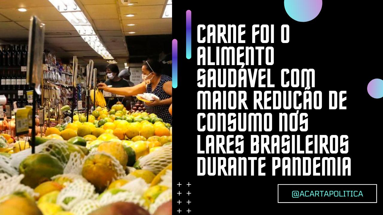 Brasileiros reduziram consumo de alimentos saudáveis em mais de 85% durante pandemia